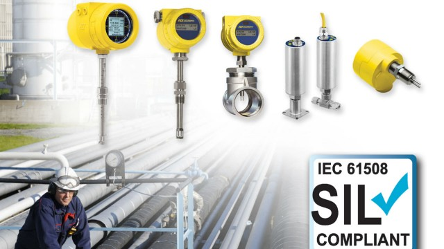 SIL compliant thermal flow meters, flow switches and level switches
