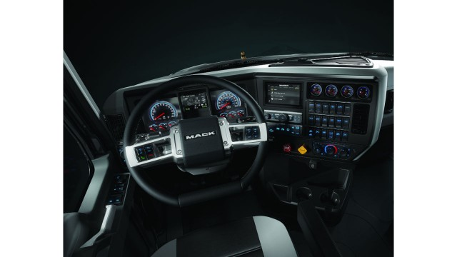 New driver-focused interior for Mack Granite shown off at World of Concrete