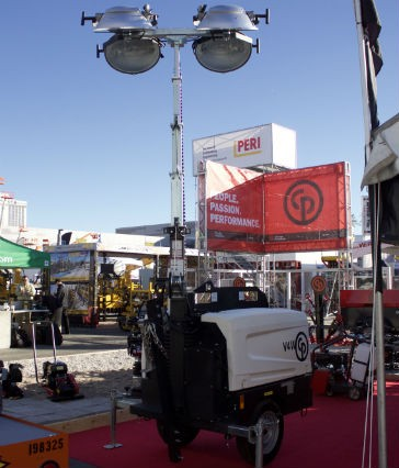 Chicago Pneumatic introduced the V4W light tower at World of Concrete.