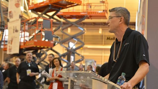 Skyjack President Brad Boehler at The Rental Show in 2017.