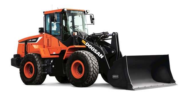 Doosan's new DL280-5 wheel loader with optional guarding to be displayed at ISRI 2018