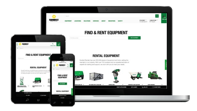 Sunbelt Rentals launches new user-friendly website