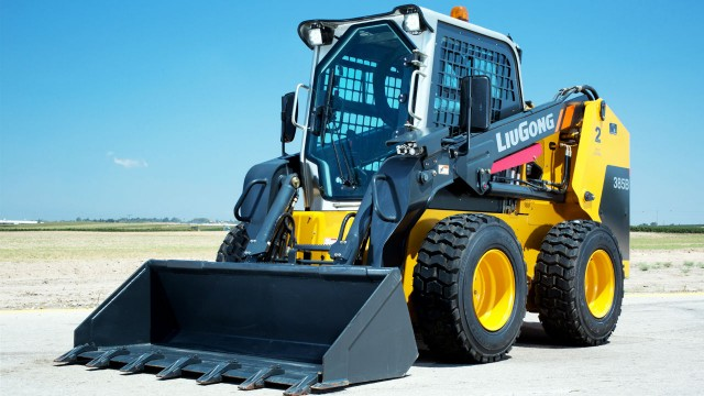 The LiuGong 385B skid-steer loader.