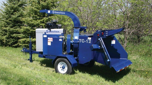 DuraTech Industries offers 12- and 15-inch tree chippers