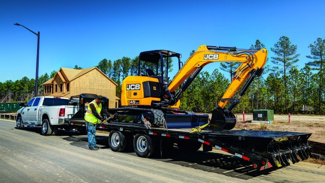 JCB launches towable  45Z-1 zero tailswing compact excavator