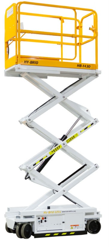 Hy-Brid Lifts' Self-Propelled Scissor Lifts Offer Lightweight,  High-Capacity Alternative to Ladders and Taller Lifts