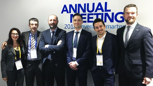The negotiating partners (l–r): Linda Forese (BHGE), Alberto Rostagno (BHGE), Paolo Accai (BHGE), Jürgen Brenner (HOERBIGER), Claudio Calabrese (BHGE), and Christian Prinz (HOERBIGER). The team also included Antonio Maria Grimaldi and Simone Bassani from BHGE, as well as Harald Stehr and Peter Urszin from HOERBIGER.