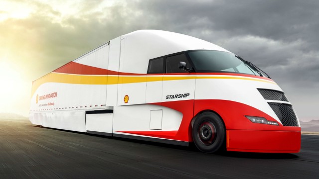 Shell and AirFlow Truck have developed the Starship, a class 8 concept truck.