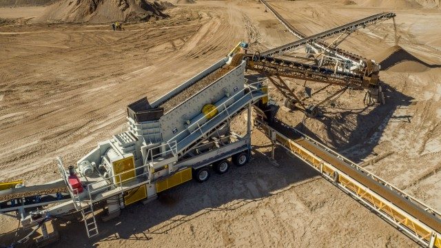 Haver & Boecker's Tyler F-Class portable plant offers as many as three screen decks.