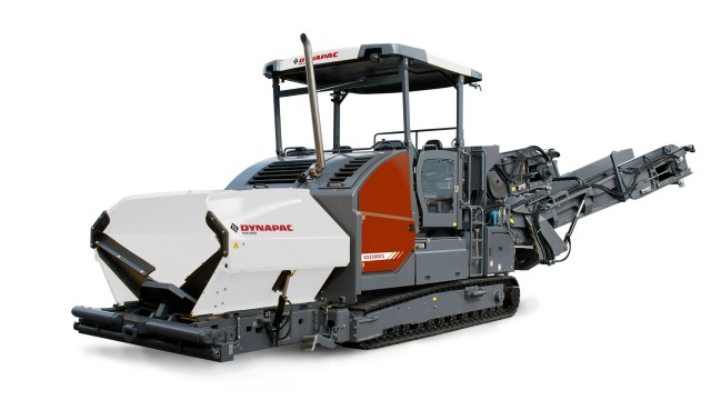 Dynapac's new material transfer vehicle family features two models, the MF2500CS and the MF2500CS with SwingApp