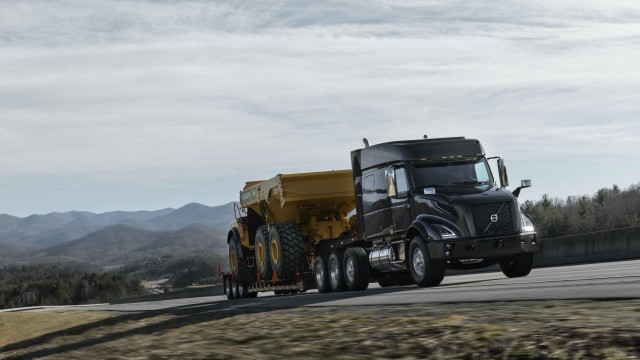 Volvo's new VNX heavy haul truck family is available with the Volvo D13 engine pushing 500 hp, as well as the Cummins X-15 with up to 605 hp.
