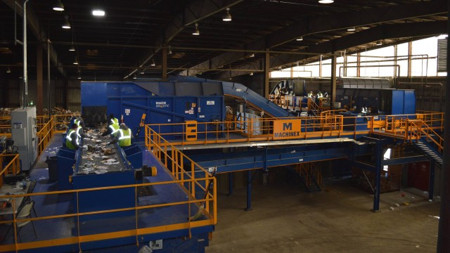Machinex' latest MRF installation, High Point, North Carolina.