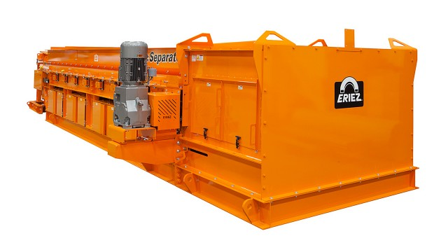 Eriez' Shred1 ballistic separator has minimal ongoing operating costs with no need for air and only very little electricity.