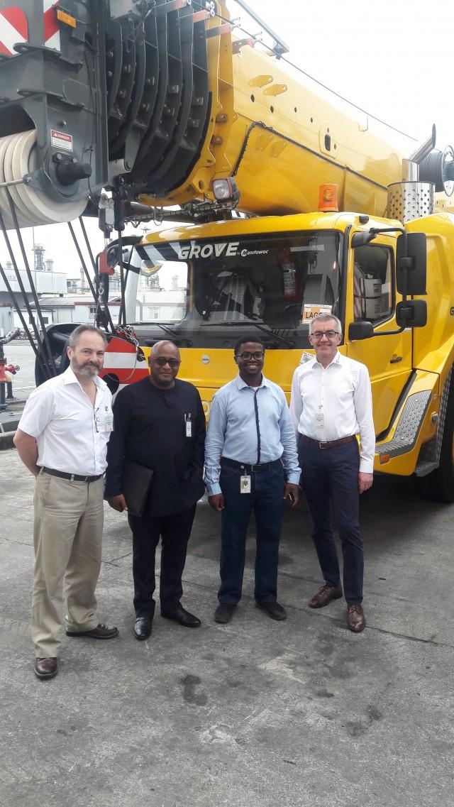 Grove cranes provide lifting capacity for LNG plant