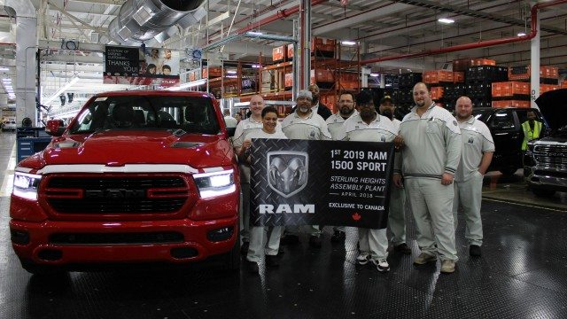 2019 Ram 1500 Sport production begins