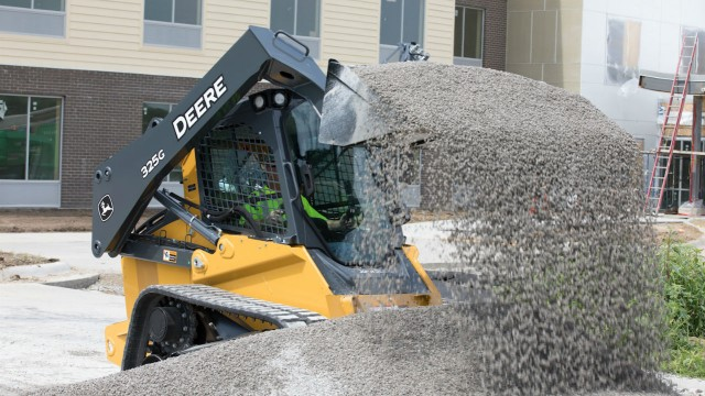 The John Deere 325G compact track loader.