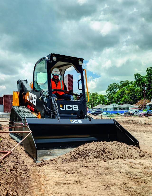 The JCB 150T compact track loader.