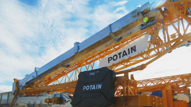Manitowoc celebrates Potain's 90th anniversary; shows self-erecting and top-slewing tower cranes at Intermat