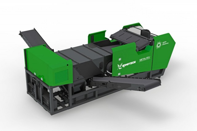 Komptech adds Metalfex mobile non-ferrous metal separator to line of separating machines