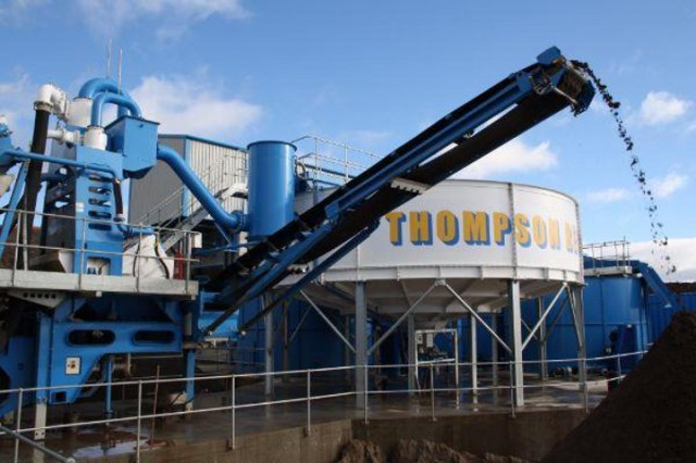 CDE provides C&D plant with closed circuit water treatment and recycling for Glasgow  recycler