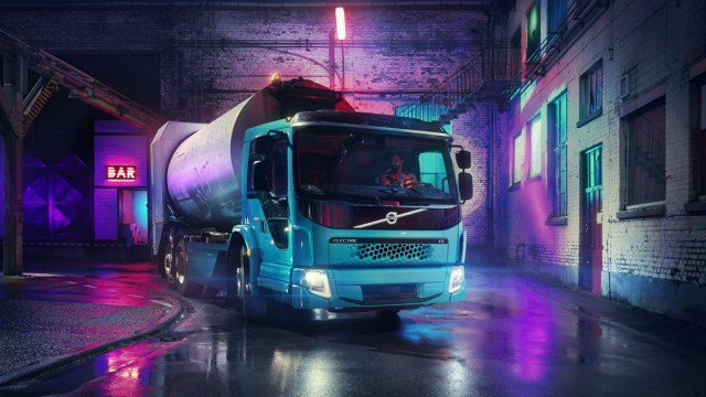 all-electric Volvo FE model