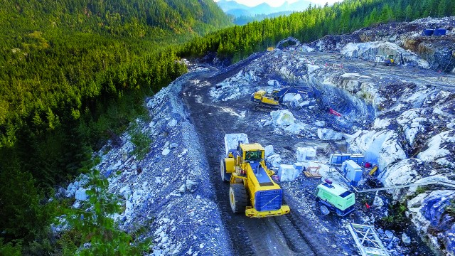 Volvo dealer, financing and equipment play a key role in the birth of Canada's newest marble quarry