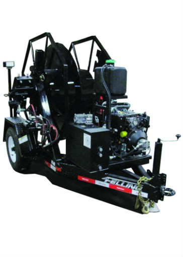 Felling's self-loading reel trailers easily deploy power cords for underground mining company