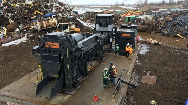 LEFORT commissions stationary shear at Tervita's Red Deer scrap facility