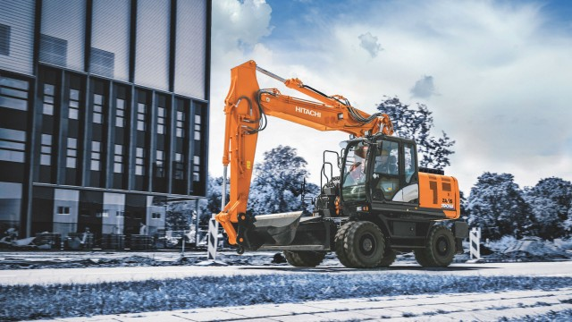 Hitachi has released its newest generation of wheeled excavators, the ZX190W-6.