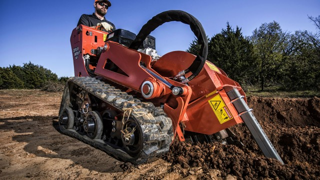 Ditch Witch C12X walk-behind trencher offers digging depth up to 24 inches