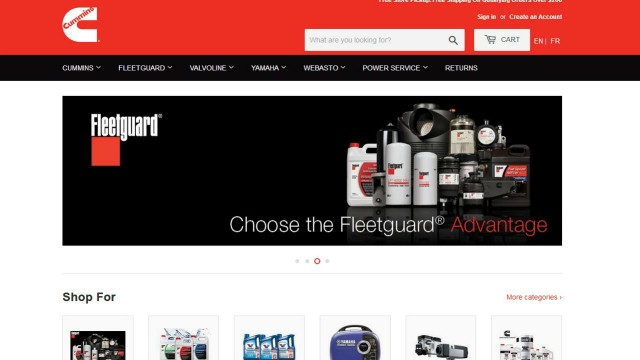 Cummins launches online store for Canadian shoppers