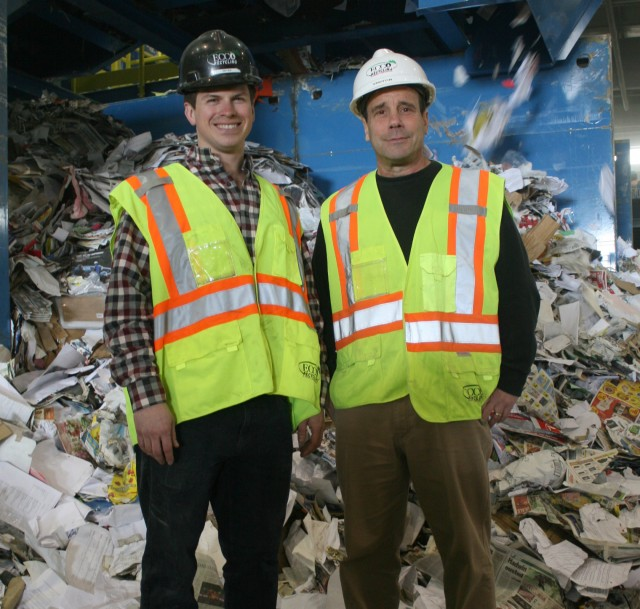 From Left: Bryan McCulloch, ECCO Recycling's manager of corporate development, and Howard Fiedler, Sparta Manufacturing.