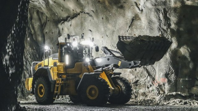 Volvo's remote-controlled wheel loader developed as part of the PIMM project.