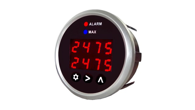 Dual channel digital thermocouple temperature gauge