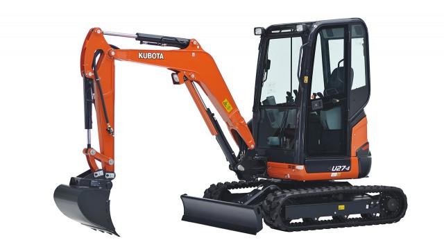 Kubota's Newest Tight Tail Swing Excavator