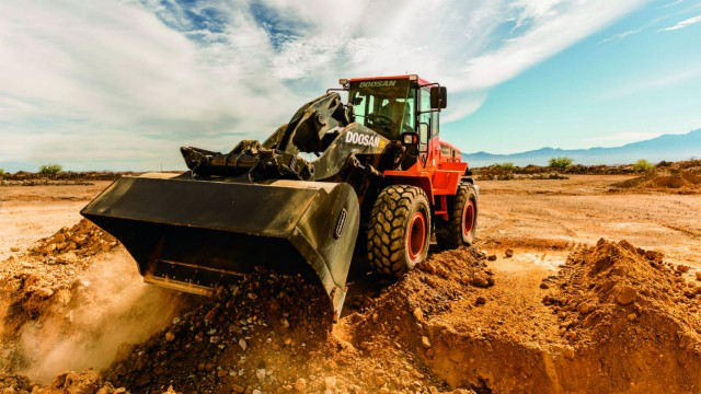 New Doosan wheel loader boasts versatility and optional guarding package for harsh conditions