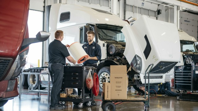 Volvo Trucks is working with technical colleges to expand technician training programs.
