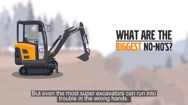 Watch this: 3 big excavator no-no's