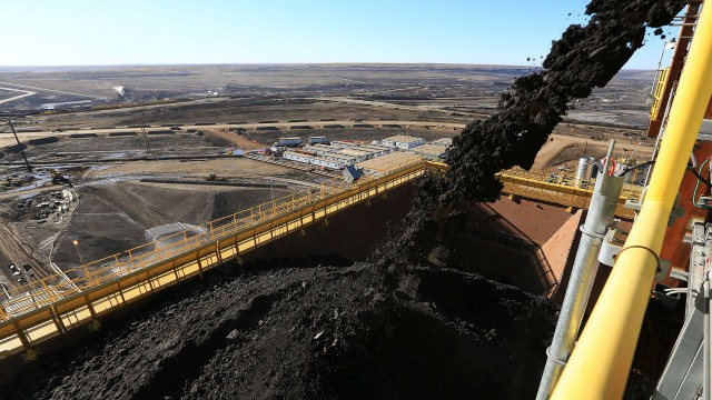 Syncrude's Mildred Lake Mine Replacement (MLMR) project. Photo courtesy of Syncrude Canada Ltd.
