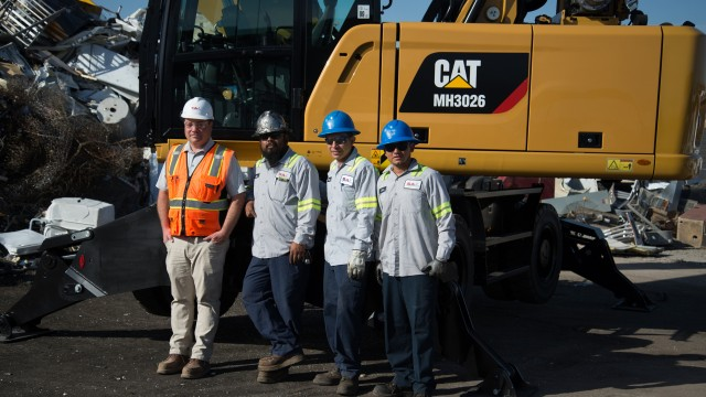 On site at SA Recycling, Las Vegas, from left: David Brown, Jose Fuentes, Erasmo Hernandez and John Vega.