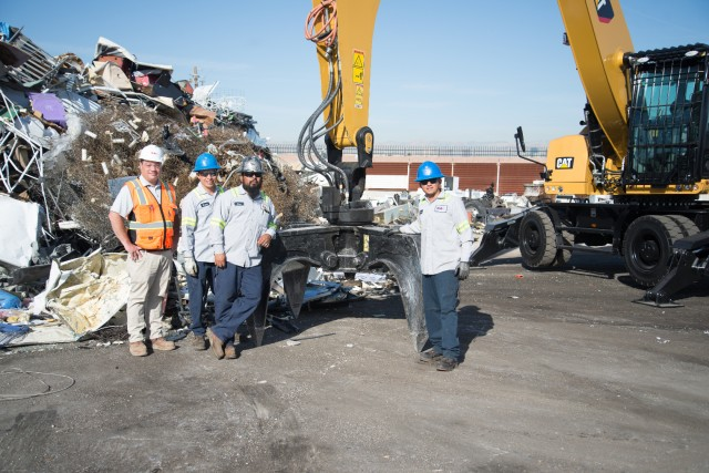 At SA Recycling in Las Vegas, David Brown and team with their new MH3026, on demo in April.