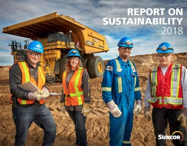Suncor releases Report on Sustainability for 2018