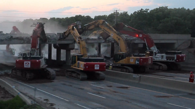 Watch this: Priestly Demolition takes down Ontario bridge overnight in time-lapse video