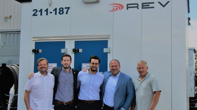 From left to right: Roland Davidson, Principal, REV; Gaetan Djenane, Business Development Manager, Schneider Electric; Kareem Nakhla, Offer Marketing Specialist, Schneider Electric; Daryll Lowry, Sales Manager, REV; Shawn Oldenburger, Principal, REV.
