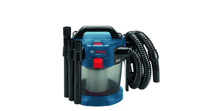Bosch GAS18V-3N 18V cordless wet/dry vacuum offers power and convenience for thorough jobsite cleanup