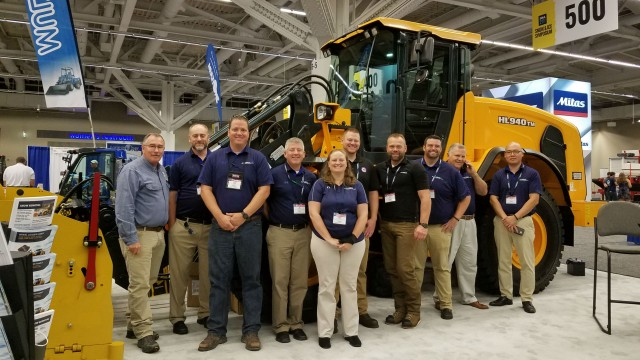 Hyundai Construction Equipment sells 20 wheel loaders from its Snow Ice Management Association exhibit
