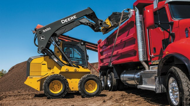 John Deere large-frame G-Series loaders now available with EH Boom Performance Package