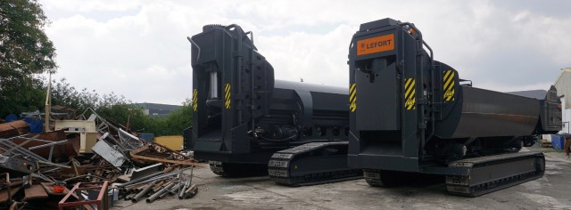 With 660 to 1,100T of cutting force, Lefort America one-piece SBLs are robust and available in four versions, including stationary, portable, towable or crawler.