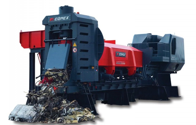 The Copex portable shear/baler/logger provides high horsepower, ease of  maintenance and noise reduction.
