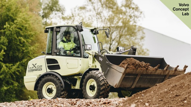 Volvo CE demonstrated the prototype LX2 electric compact wheel loader at the Volvo Group Innovation Summit in Berlin.